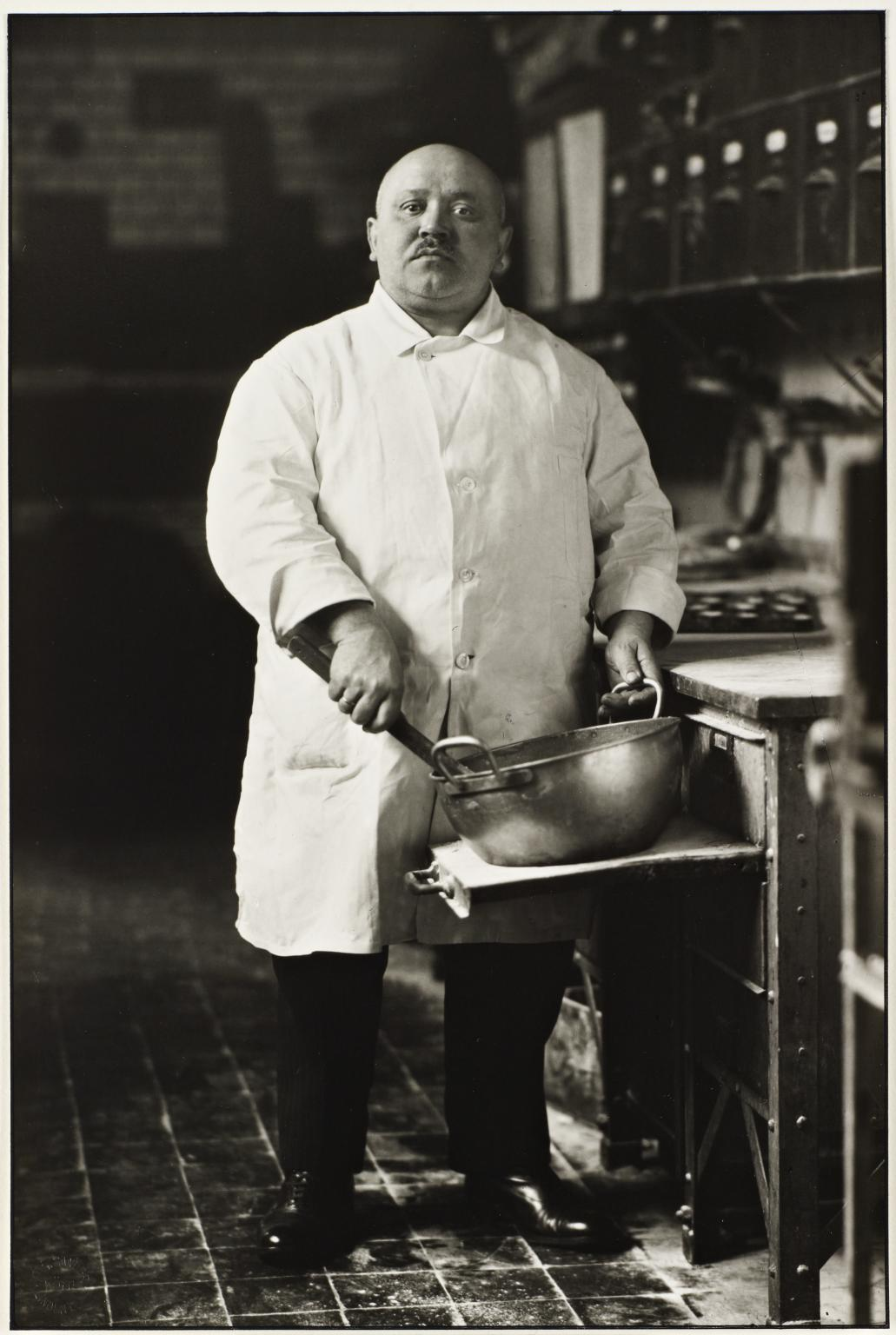 Pastrycook 1928, printed 1999 August Sander 1876-1964 ARTIST ROOMS  Tate and National Galleries of Scotland. Lent by Anthony d'Offay 2010 http://www.tate.org.uk/art/work/AL00033